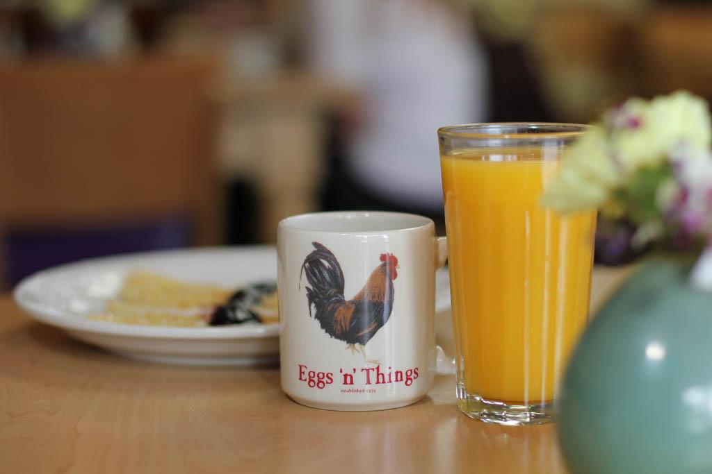 Fresh coffee and orange juice