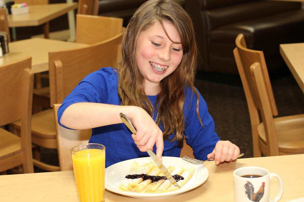 Kids love the Swedish Pancakes!